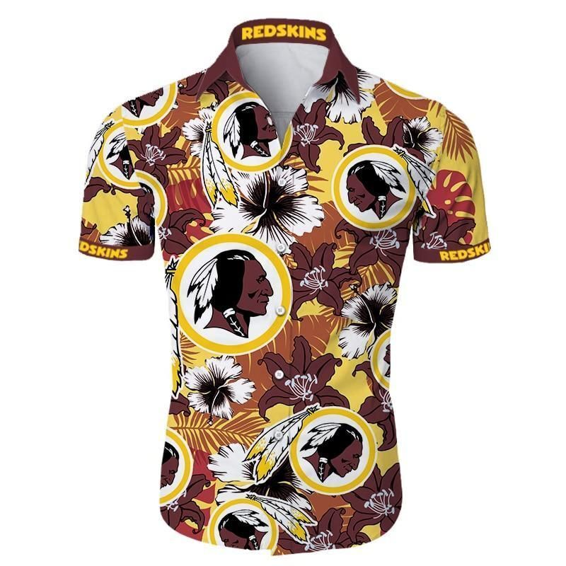 Washington redskins tropical flower Hawaiian Shirt