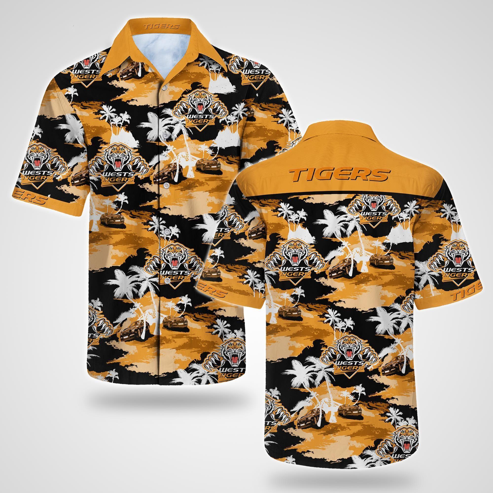 Wests Tigers Tommy Bahama Hawaiian Shirt