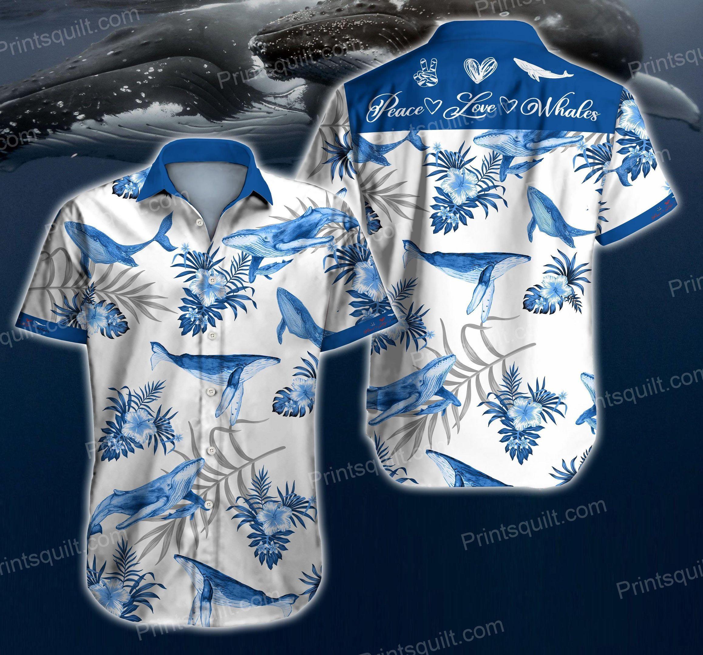 Whales Lovers 3d Summer Hawaii Shirt