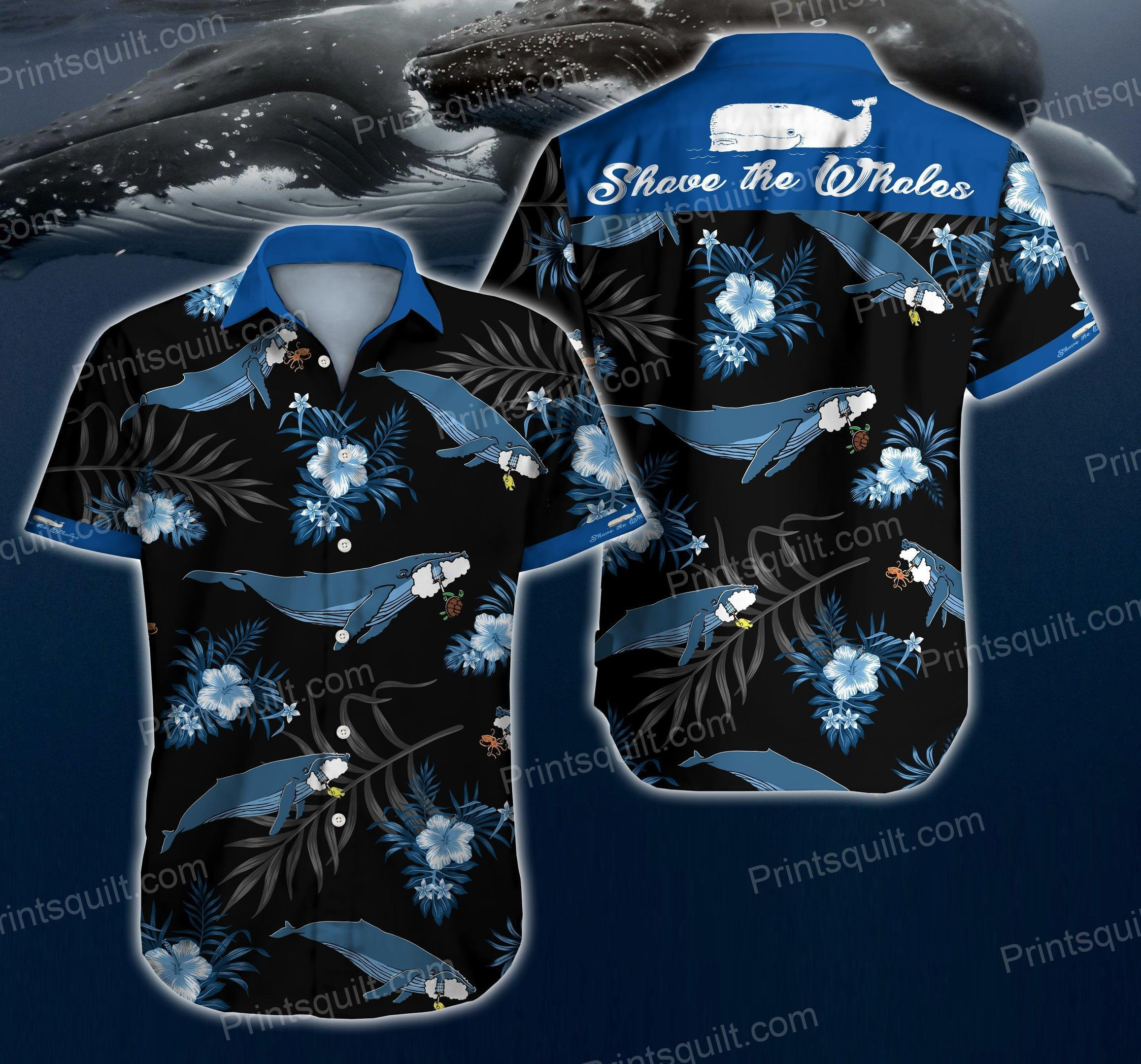 Whales Lovers 3d Hawaii Shirtv Summer Button Up