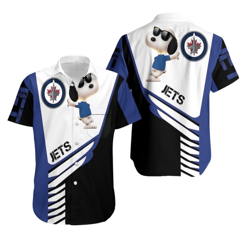Winnipeg Jets snoopy for lover hoodie Hawaiian Shirt