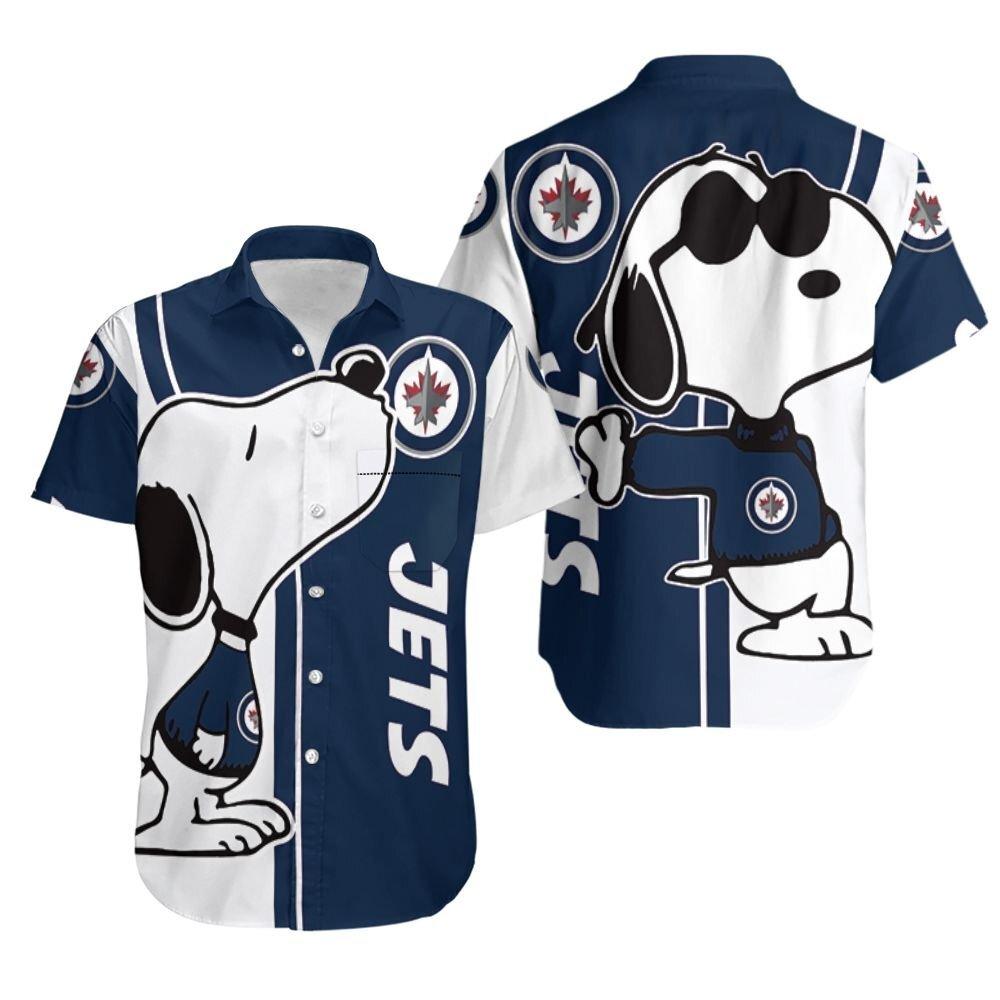 Winnipeg Jets snoopy lover 3d printed Hawaiian Shirt