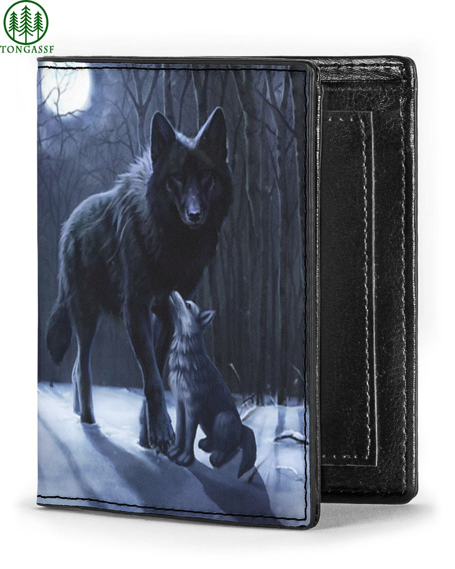 Wolf mom protect son gift wallet