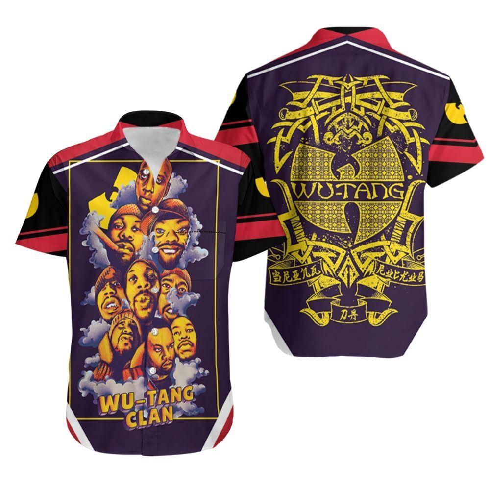 Wu Tang Clan Smoke Legend Hip Hop Rapper Hawaiian Shirt