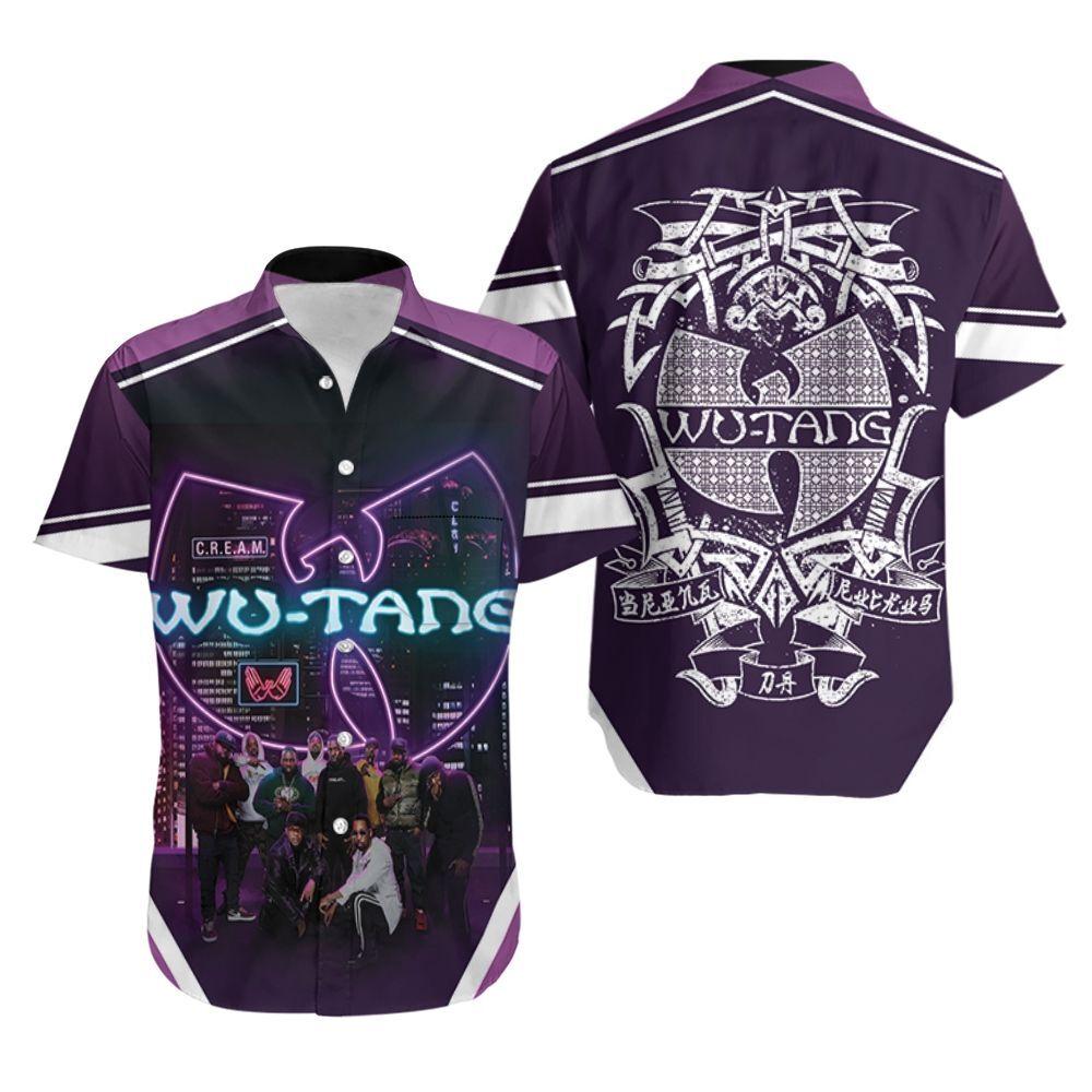 Wutang Clan Cream Led Light Logo Sky View Legend Hip Hop Hawaiian Shirt