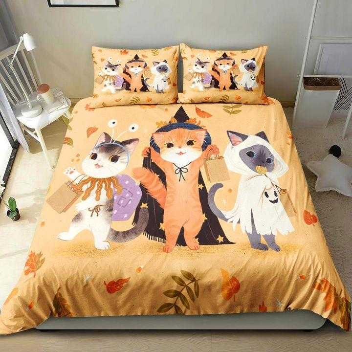 3 Little Cats Happy Halloween gift Bedding Set