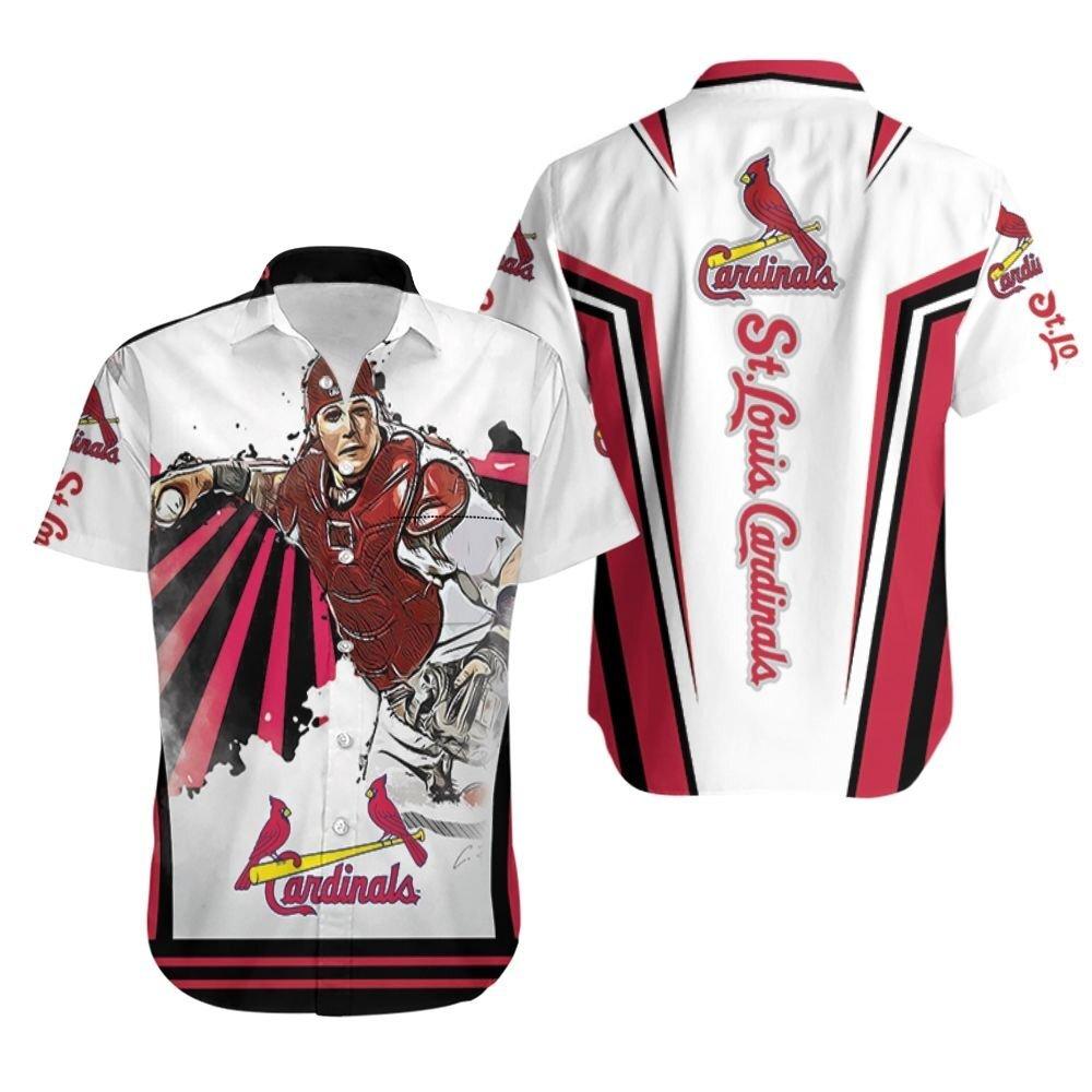 Yadier Molina St Louis Cardinals Trippy Spiral Pattern Hawaiian Shirt