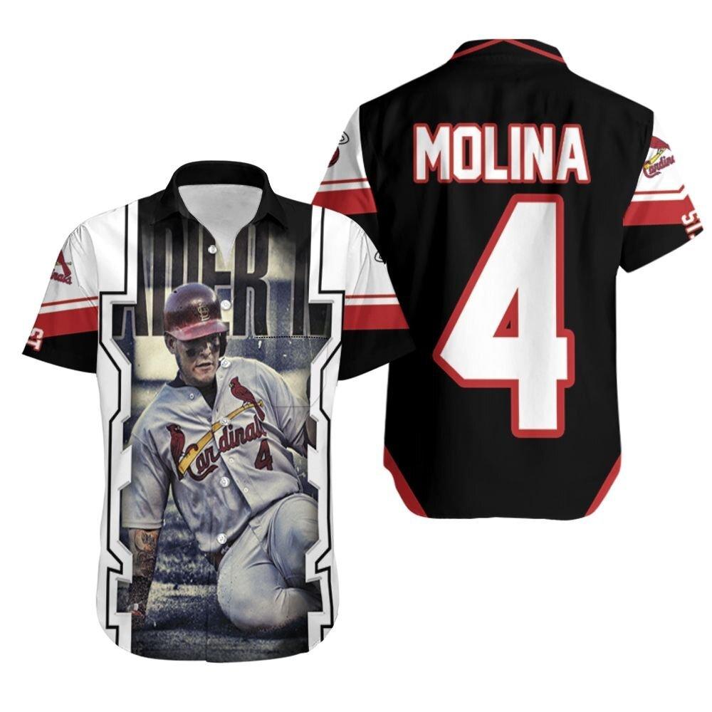 Yadier Molina Strive For Winning St Louis Cardinals Legend Hawaiian Shirt