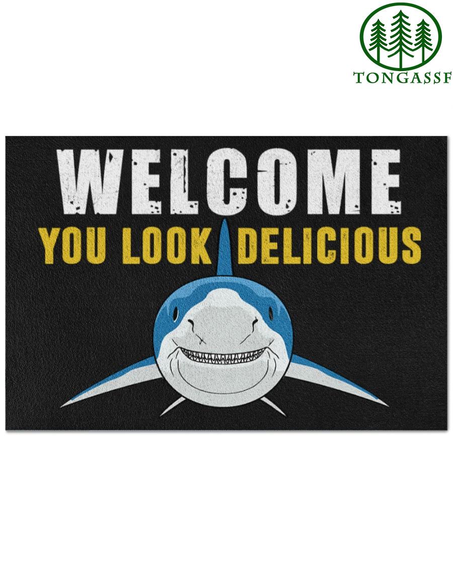 You Look Delicious Shark Doormat