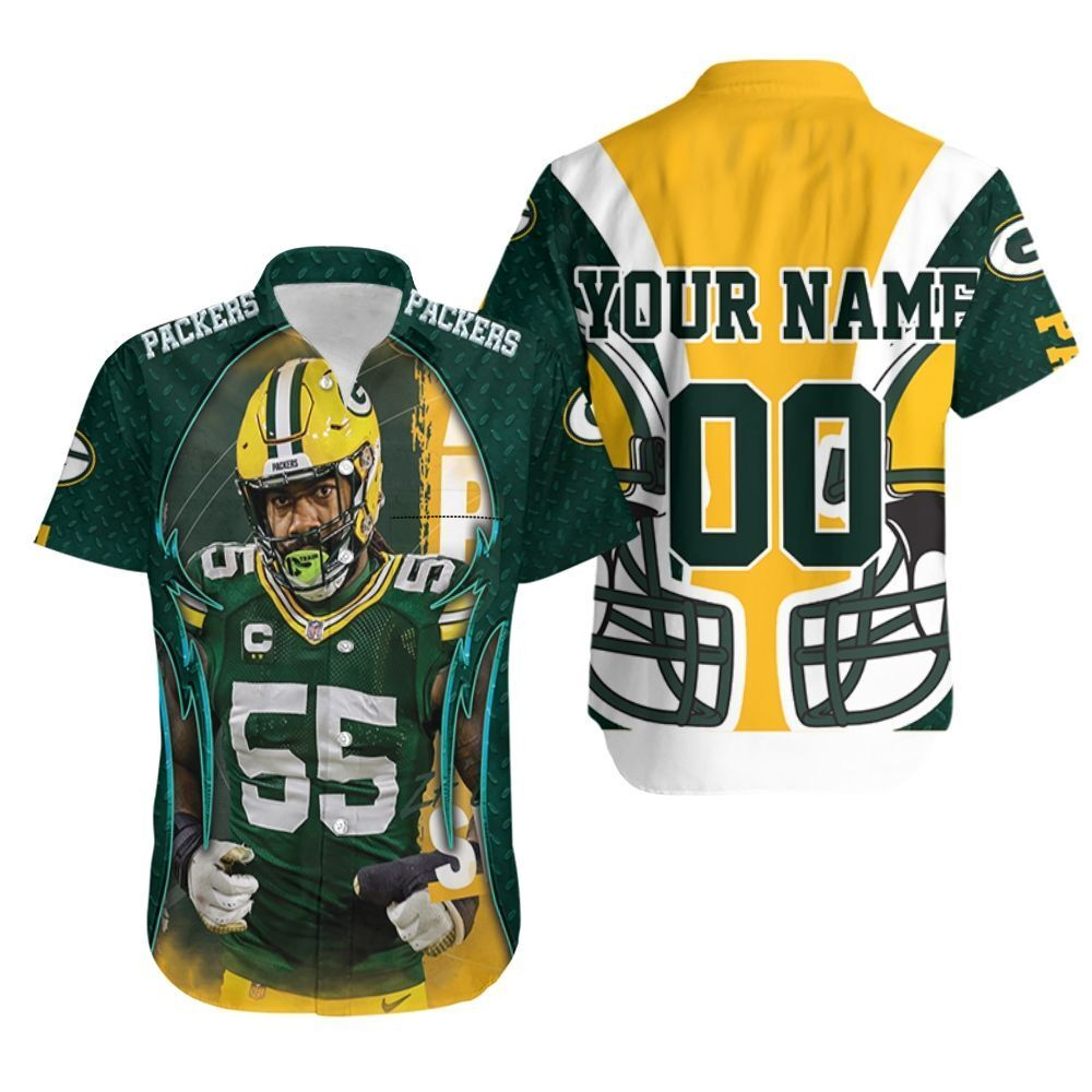 Zadarius Smith 55 Green Bay Packers NFL North Champions Super Bowl 2021 Personalized Hawaiian Shirt