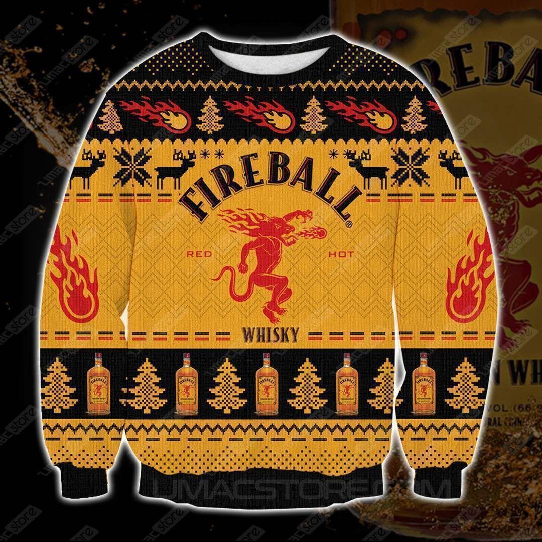 Fireball 3D Print Christmas Sweater