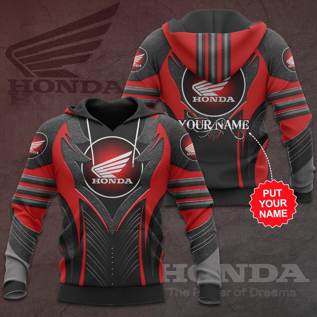 Personalized Honda Premium 3D Full Printed hoodie