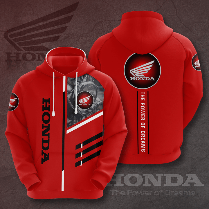Honda The Power of Dreams red 3D All Over Printed Hoodie