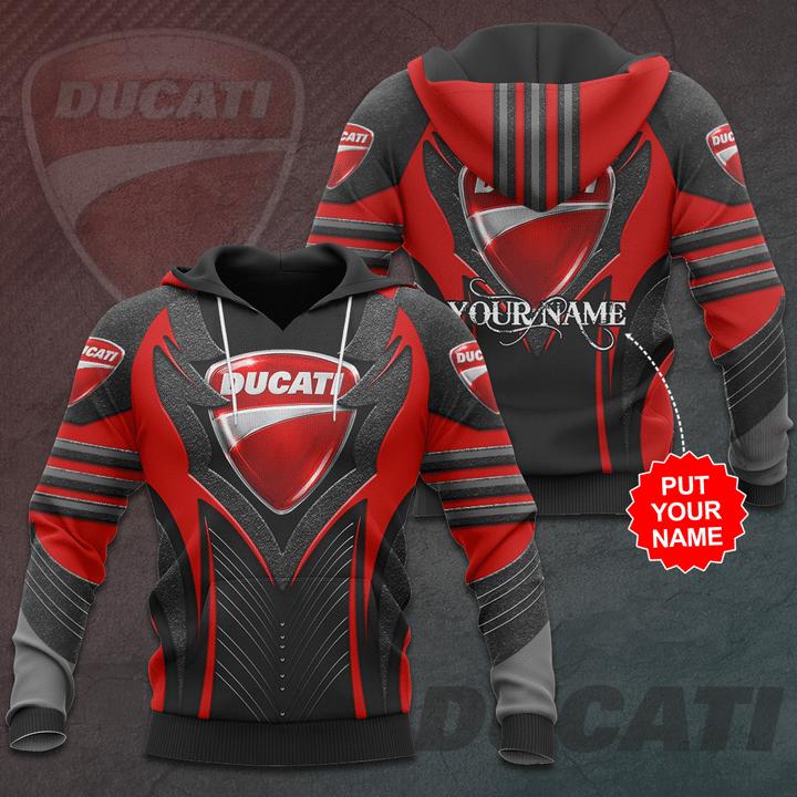 Personalized Ducati Premium 3D Full Printed hoodie