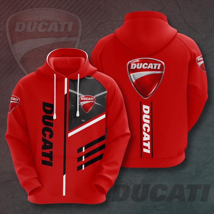 Ducati red version 3D All Over Printed Hoodie