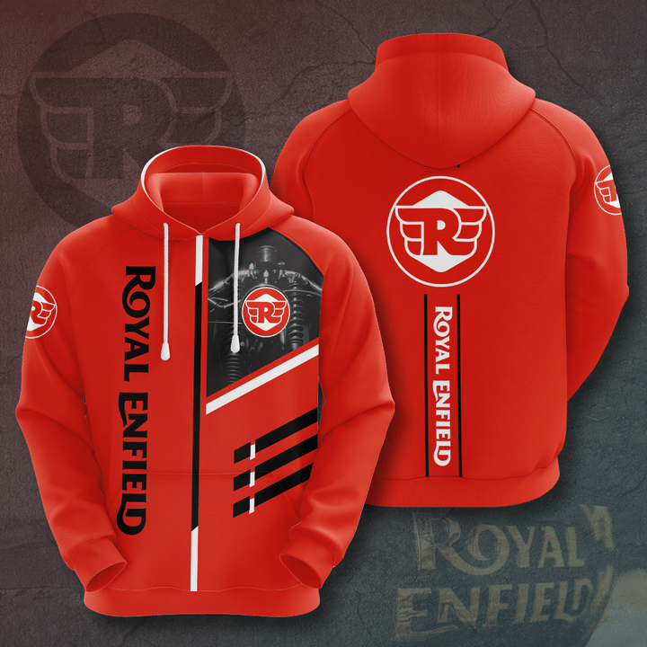 Royal enfield red version 3D All Over Printed Hoodie
