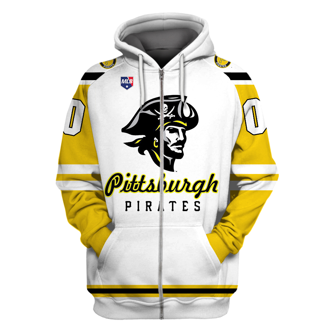 Personalized MLB Pittsburgh Pirates big logo hoodie and T-shirt