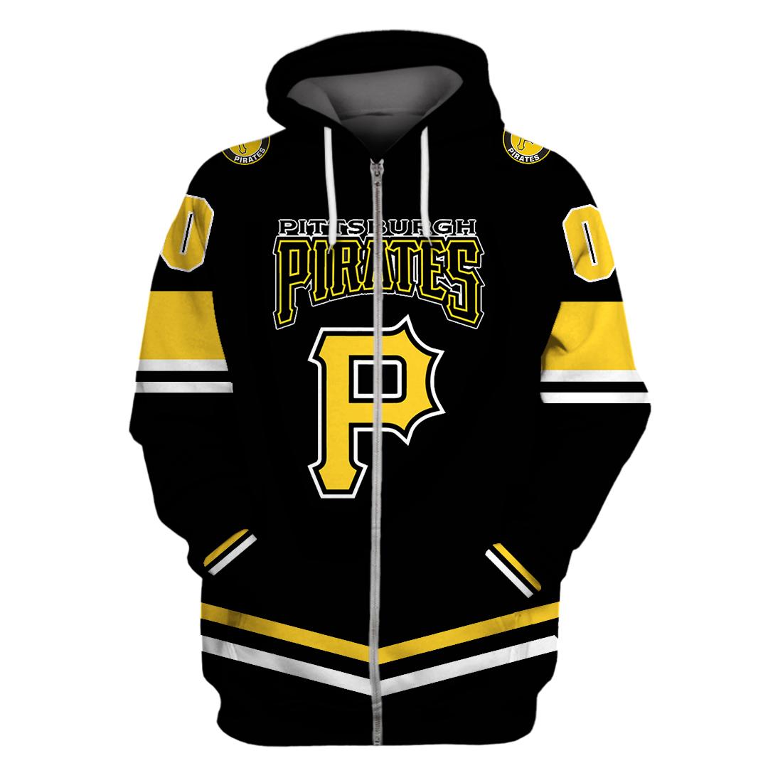Personalized Pittsburgh Pirates black hoodie sweatshirt