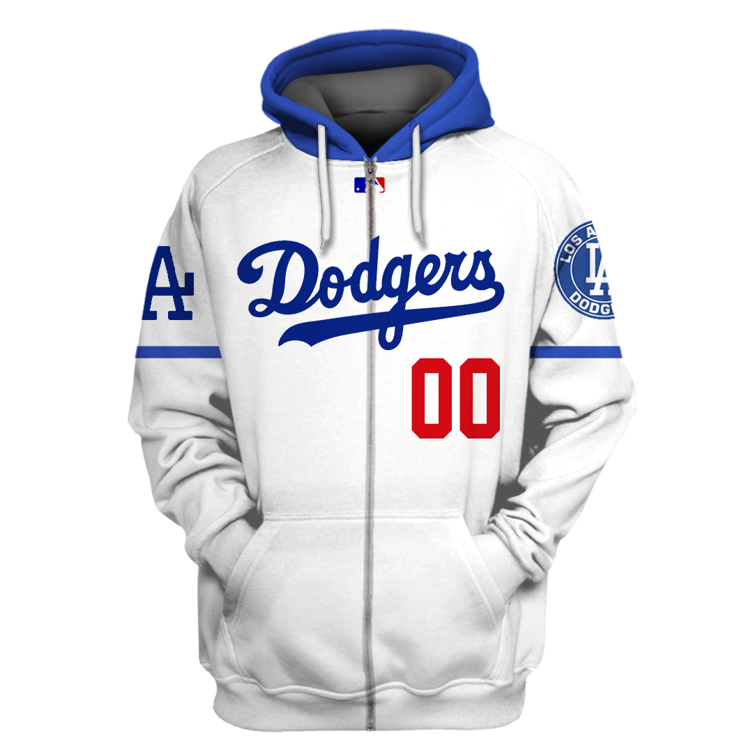 Personalized MLB Los Angeles Dodgers hoodie and T-shirt