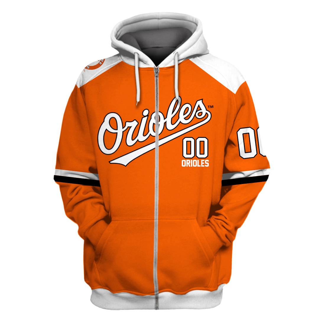 Personalized MLB Baltimore Orioles 3D hoodie sweatshirt