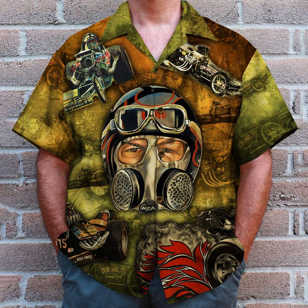 Drag Racing gas mask filter Hawaiian Shirt