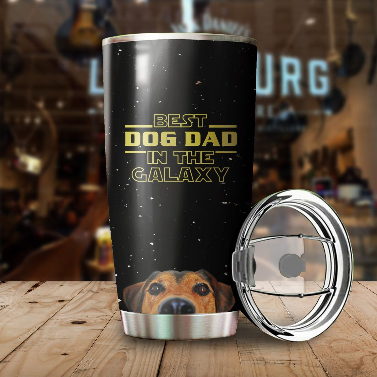 Best Dog Dad in the Galaxy Stainless Steel Tumbler Cup