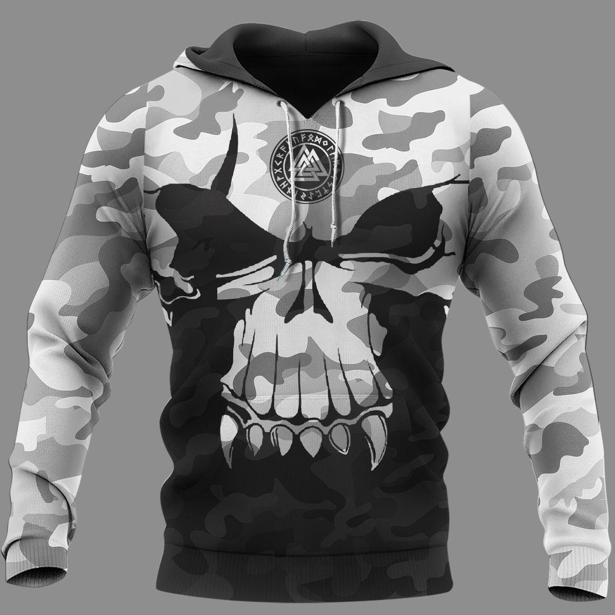 Viking Camo Valknut Hoodie 3D
