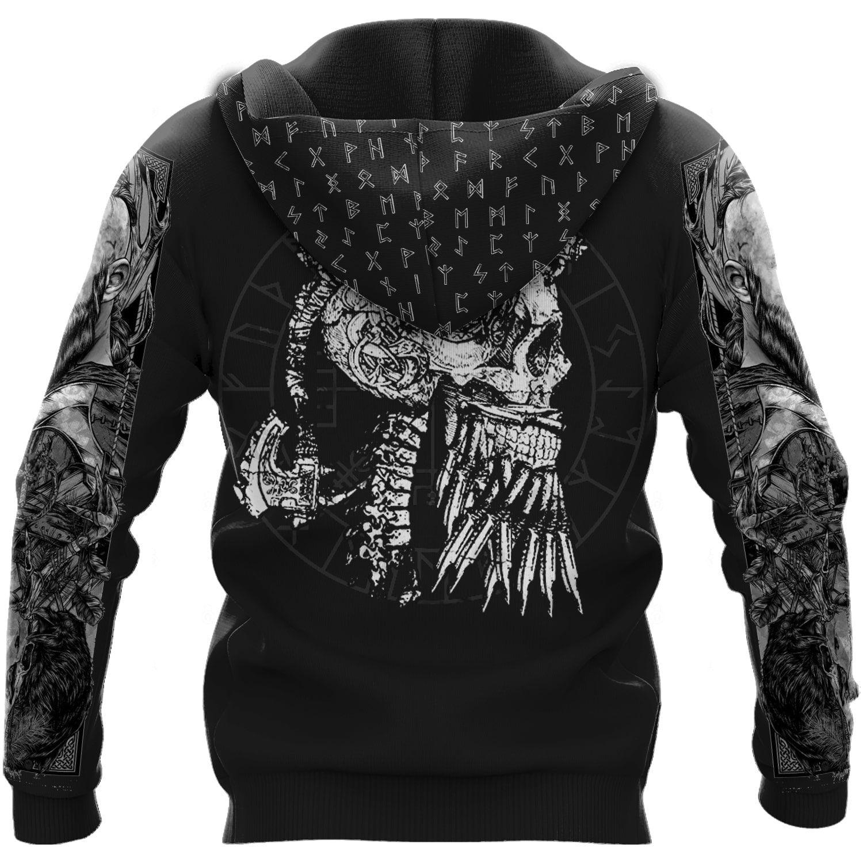 Viking King Ragdar Valhalla Awaits 3D hoodie and T-shirt