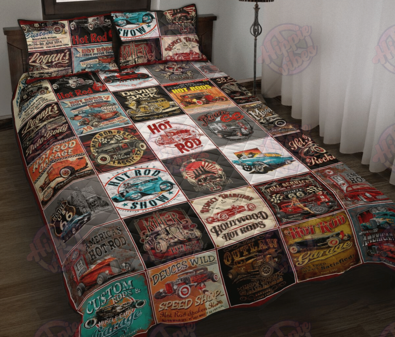 Hot Rod Collection Quilt Bedding Set
