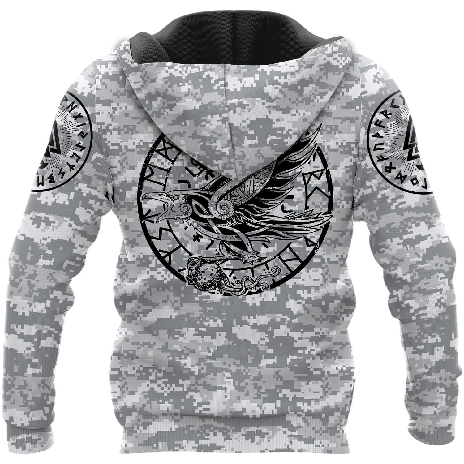 Never Gave Up Viking warrior 3D Hoodie and T-shirt