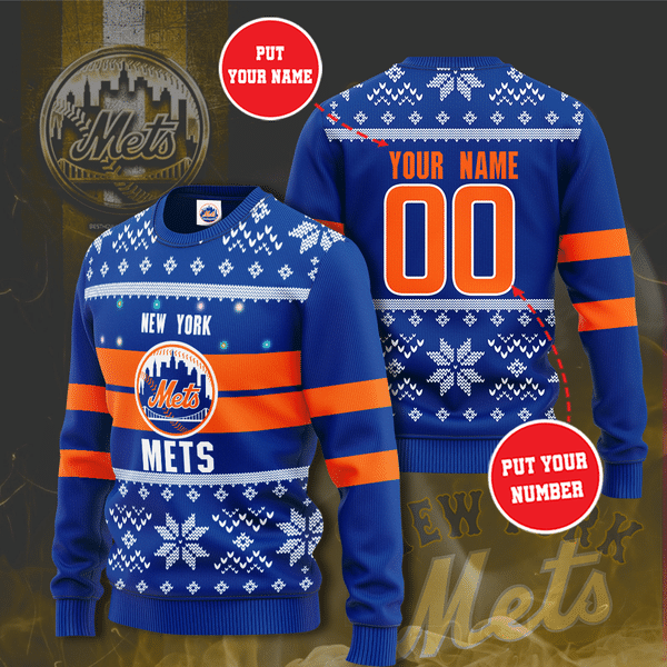 Personalized MLB The New York Mets Christmas Sweater