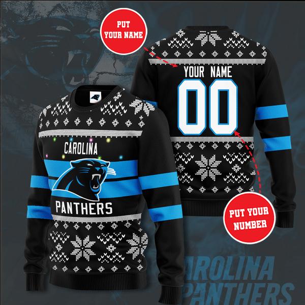 Personalized NFL Carolina Panthers Christmas Sweater