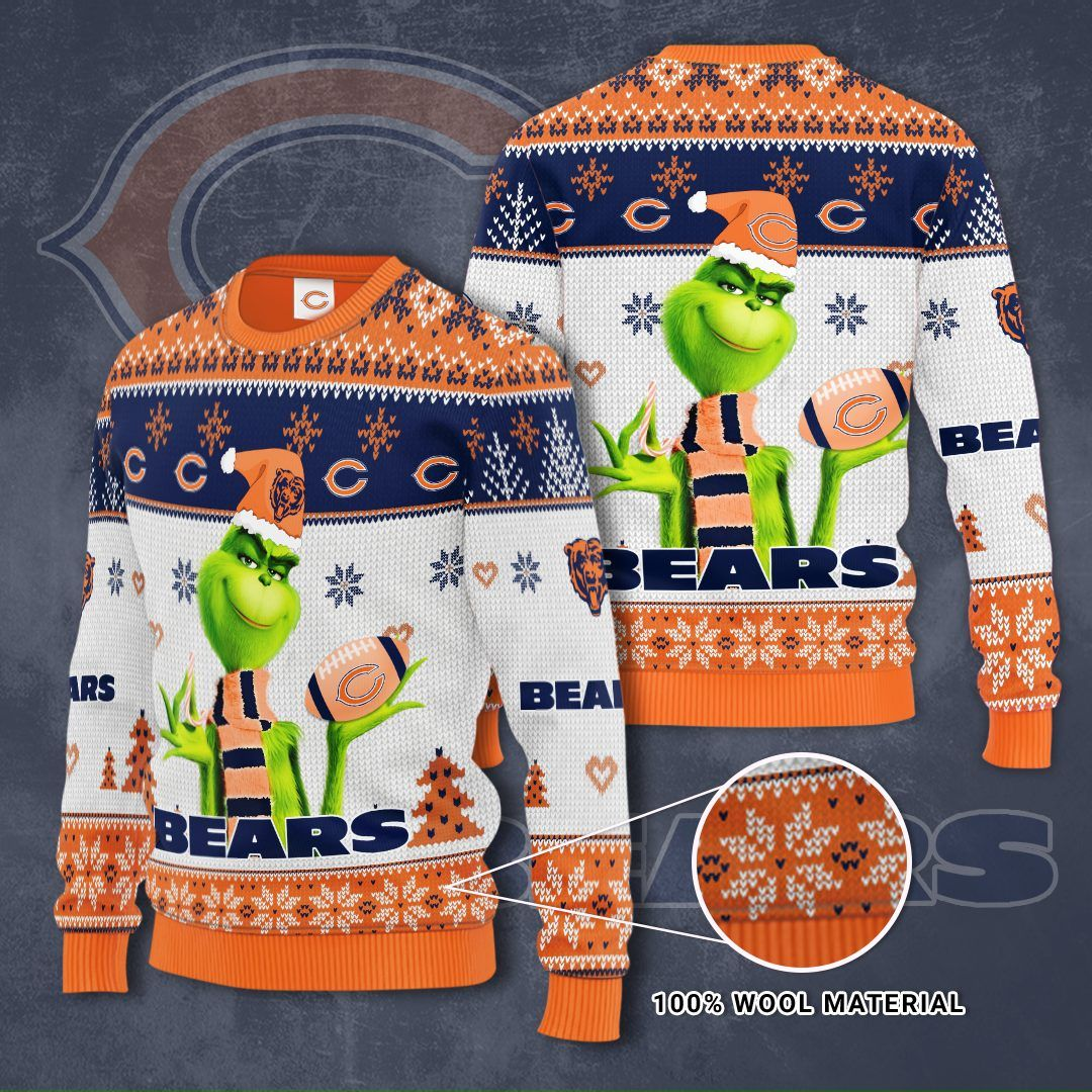NFL Chicago Bears Grinch Christmas Sweater
