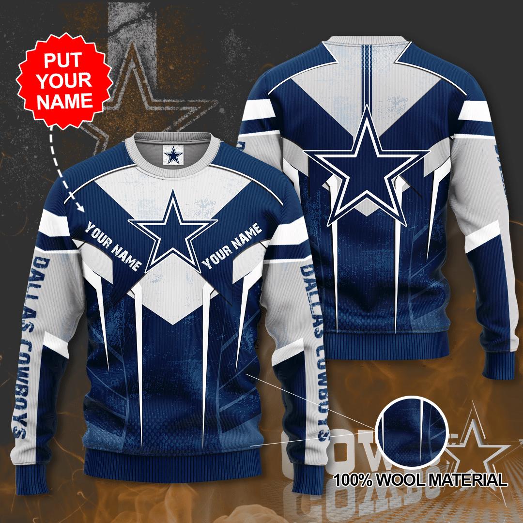 Personalized Dallas Cowboys Custom Sweater