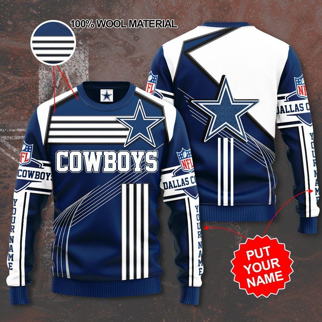 Custom Name Dallas Cowboy Premium Sweater
