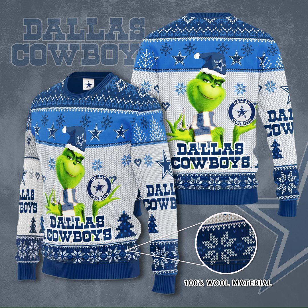 Dallas Cowboys Grinch Christmas Sweater