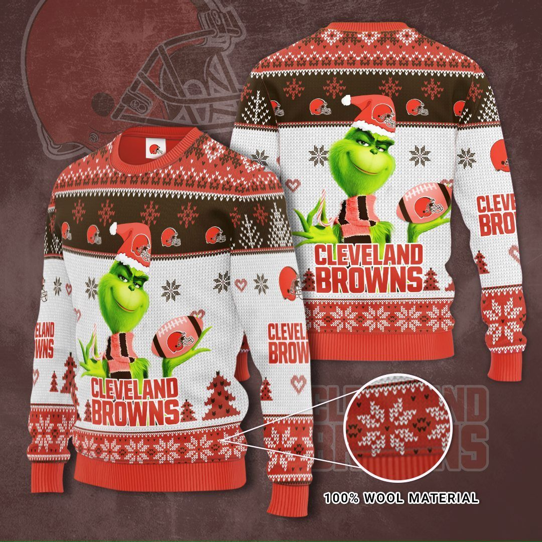 Cleveland Browns Grinch Christmas Sweater