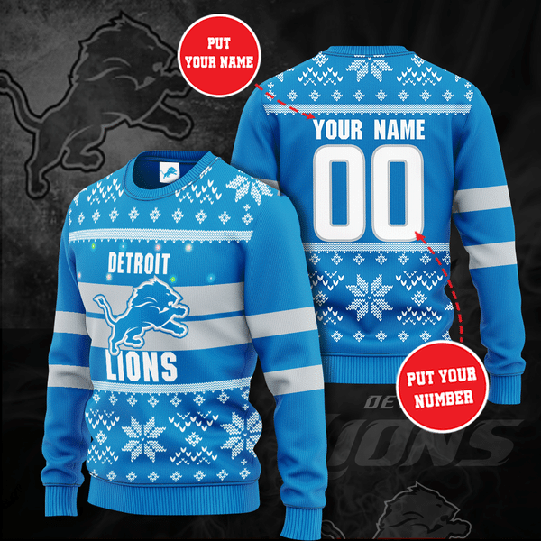 Personalized Detroit Lions Christmas Sweater