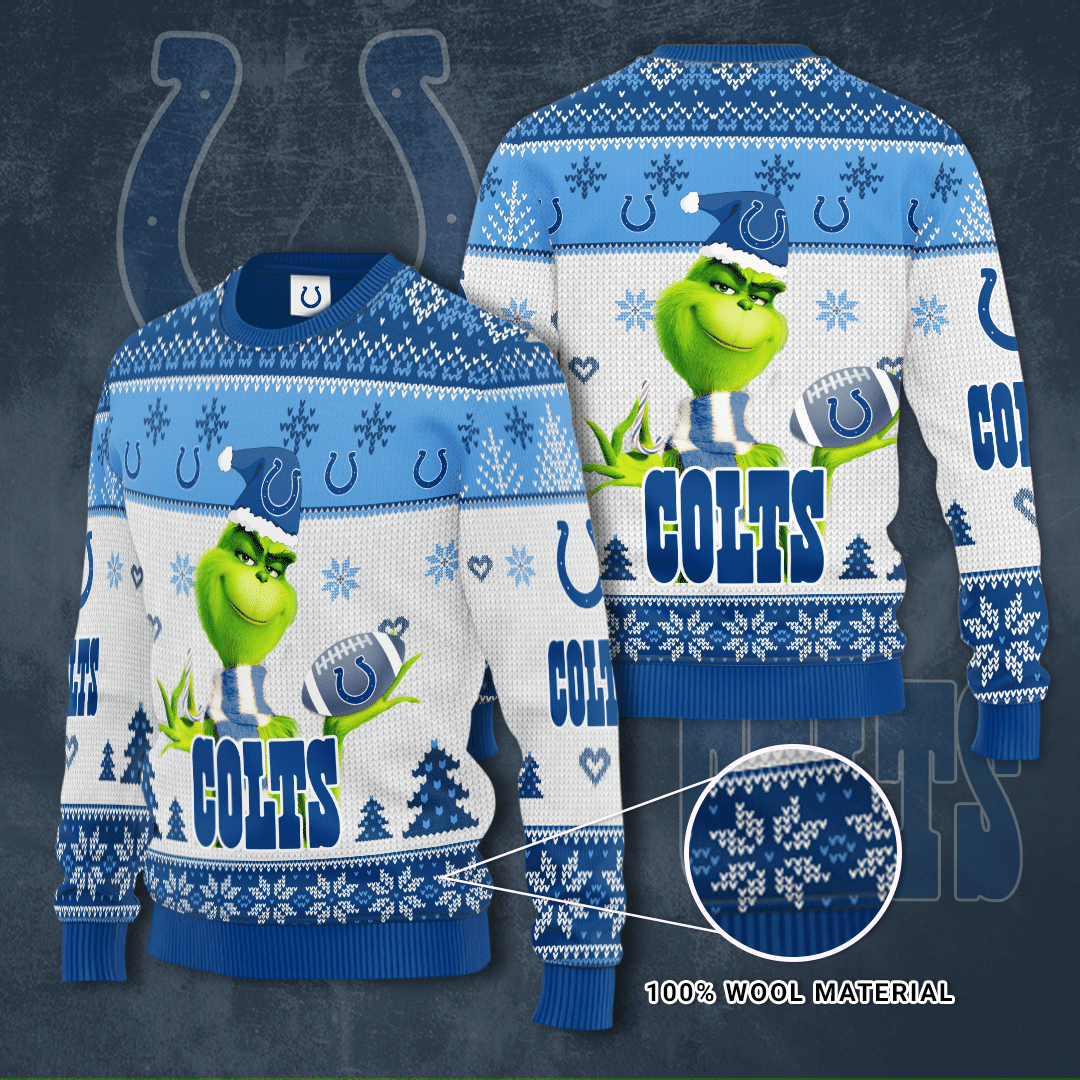 Indianapolis Colts Grinch Sweater