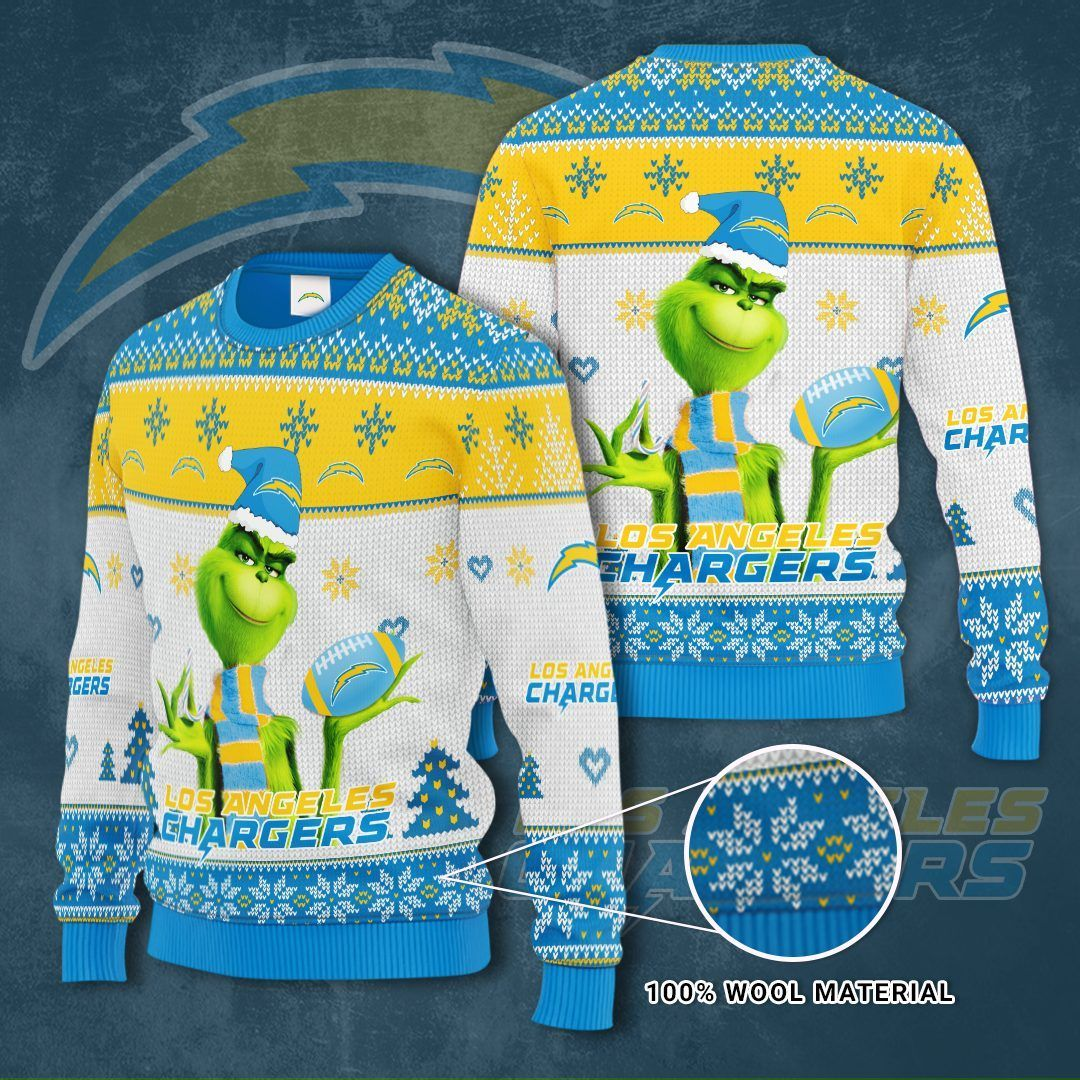 Los Angeles Chargers Grinch Sweater