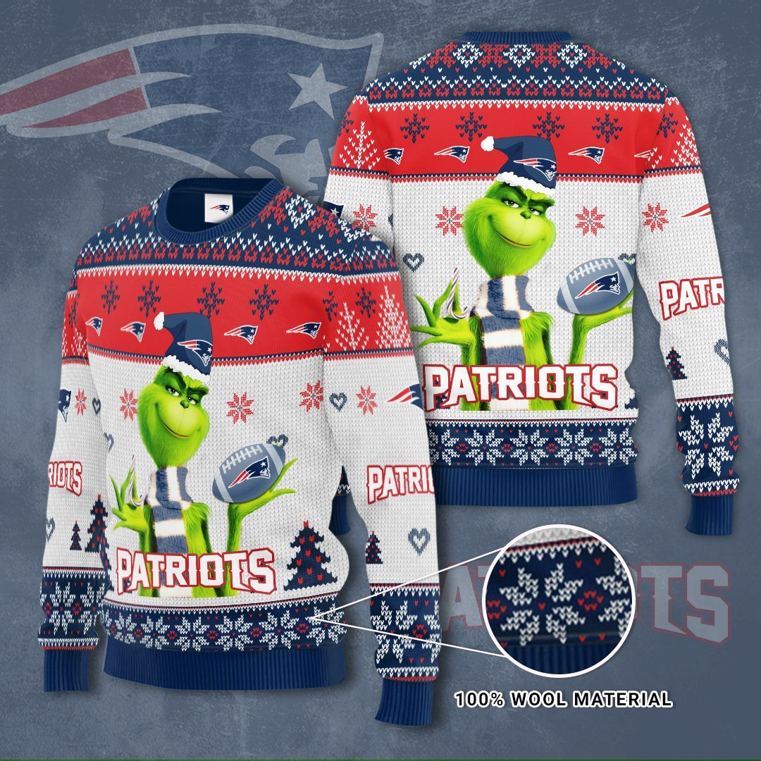 NFL New england patriots Grinch Sweater