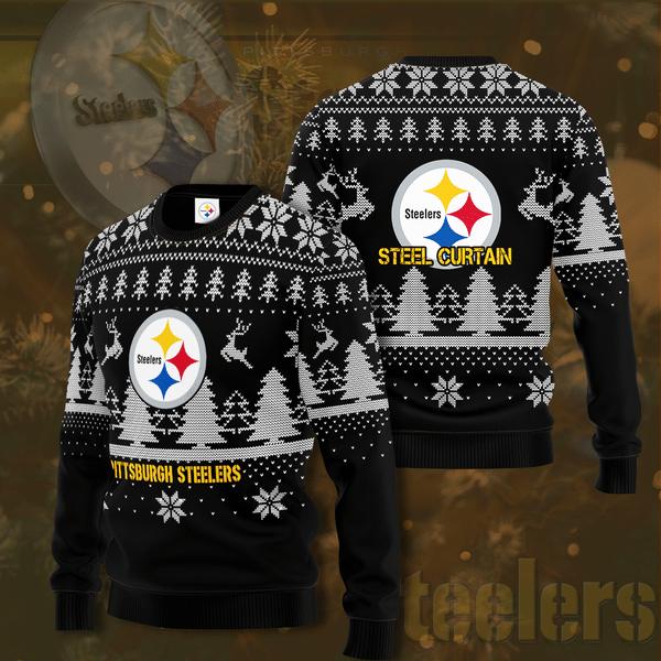 Pittsburgh Steelers Steel Curtain Christmas Sweater