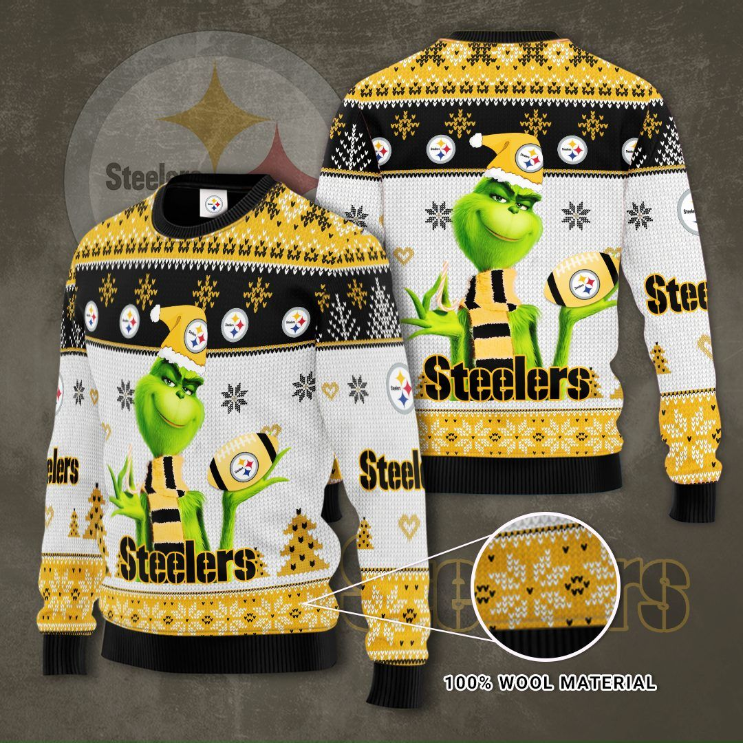NFL Pittsburgh Steelers Grinch Sweater