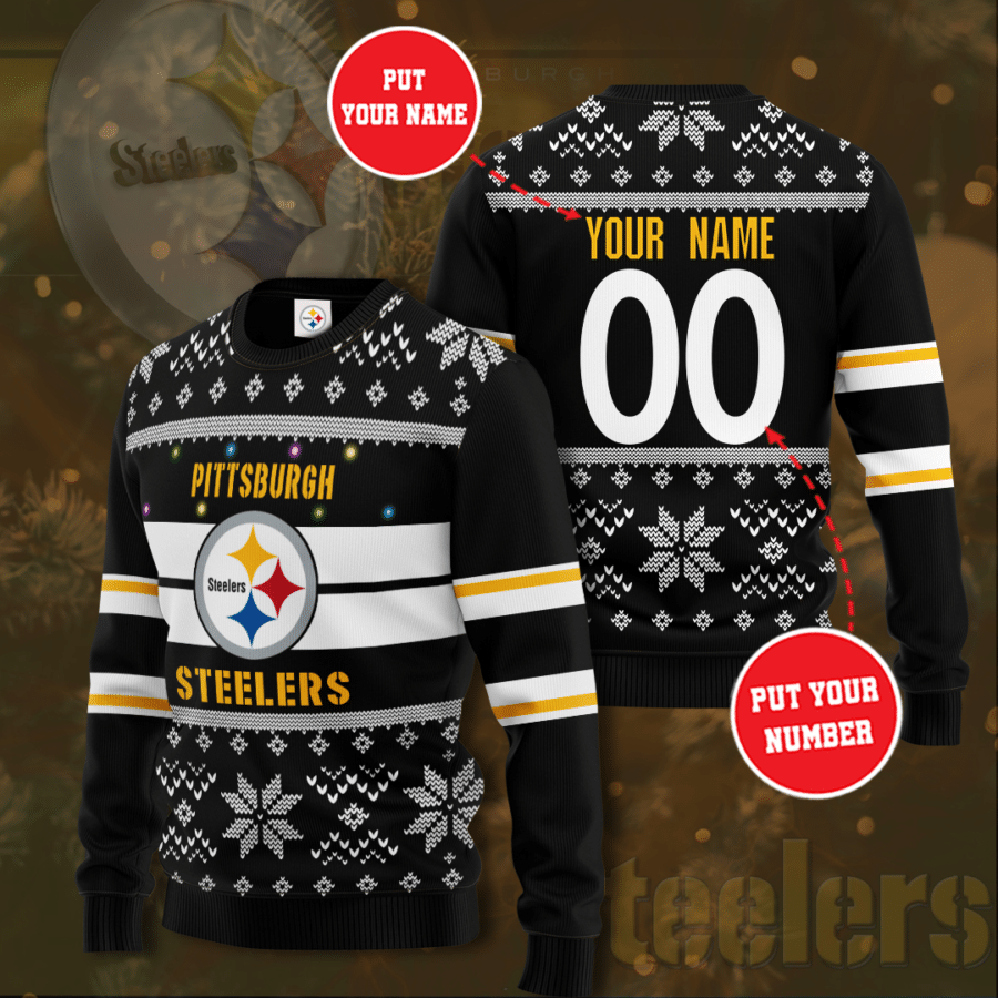 Personalized Pittsburgh Steelers Christmas Sweater
