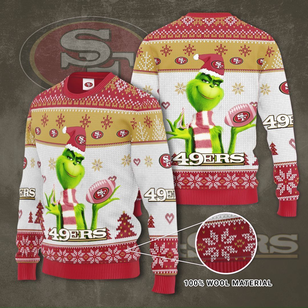 NFL San Francisco 49ers Grinch Christmas Sweater