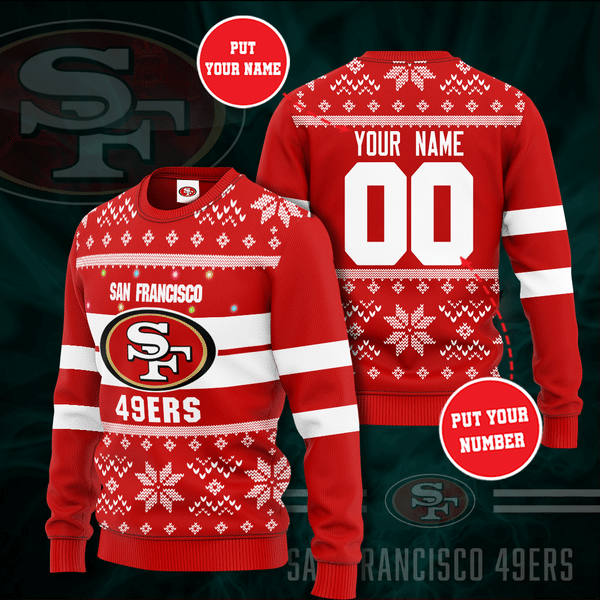 Personalized San Francisco 49ers Christmas Sweater