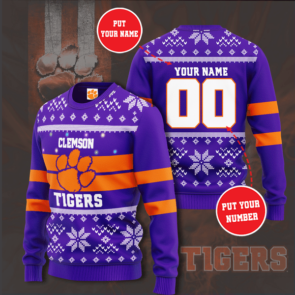 Personalized NCAA Clemson Tigers Christmas Sweater