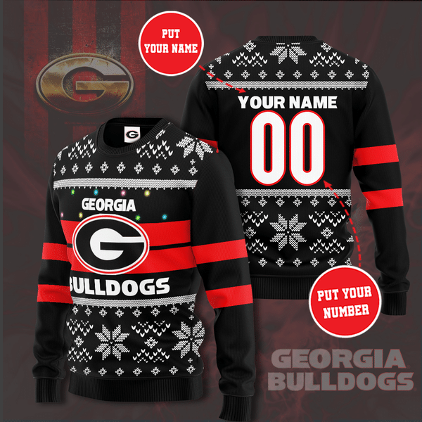 Personalized Georgia Bulldogs Christmas Sweater