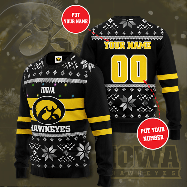 Personalized Iowa Hawkeyes Christmas Sweater