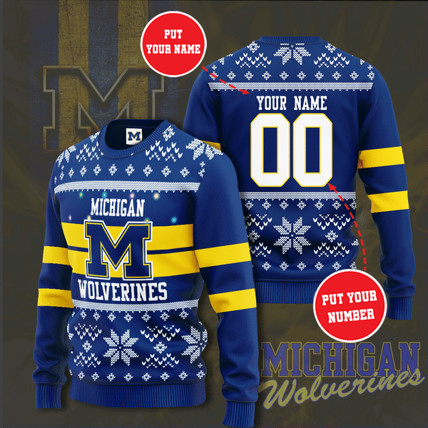 Personalized Michigan wolverines Christmas Sweater